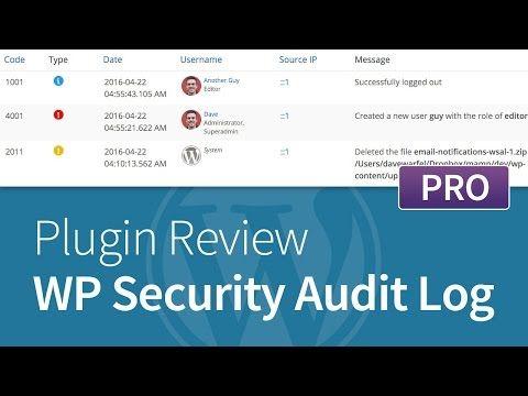 WP Security Audit Log - Pro Add-Ons Review - http://www.howtowordpresstrainingvideos.com/wordpress-security-plugins/wp-security-audit-log-pro-add-ons-review/