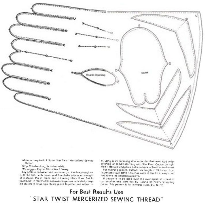 Gloves (free pattern): | Sewing etc | Pinterest | Gloves, Free ...