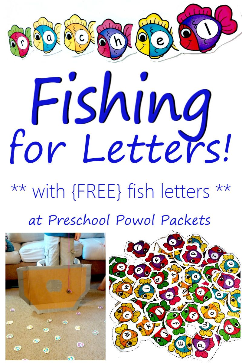 Fishing for letters with free fish letters sight words fun fishing for letters activity perfect for letter recognition letter sounds and sight word reading in preschool kindergarten and 1st grade spiritdancerdesigns Choice Image