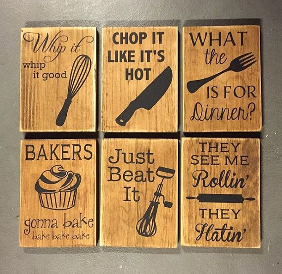 kitchen wall hangings black cabinets one sign fun decor humor wooden housewarming gift conversation piece home