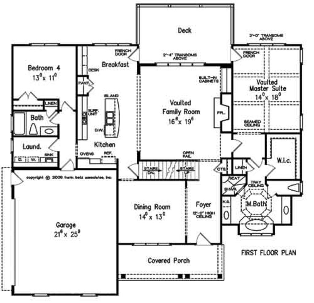 Traditional Style House Plan 4 Beds 3 Baths 2855 Sq Ft Plan 927 26 House Plans Floor Plan Design How To Plan