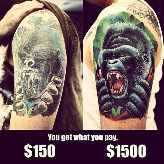10 cheap vs expensive tattoos you get what you pay for for How much should a tattoo cost