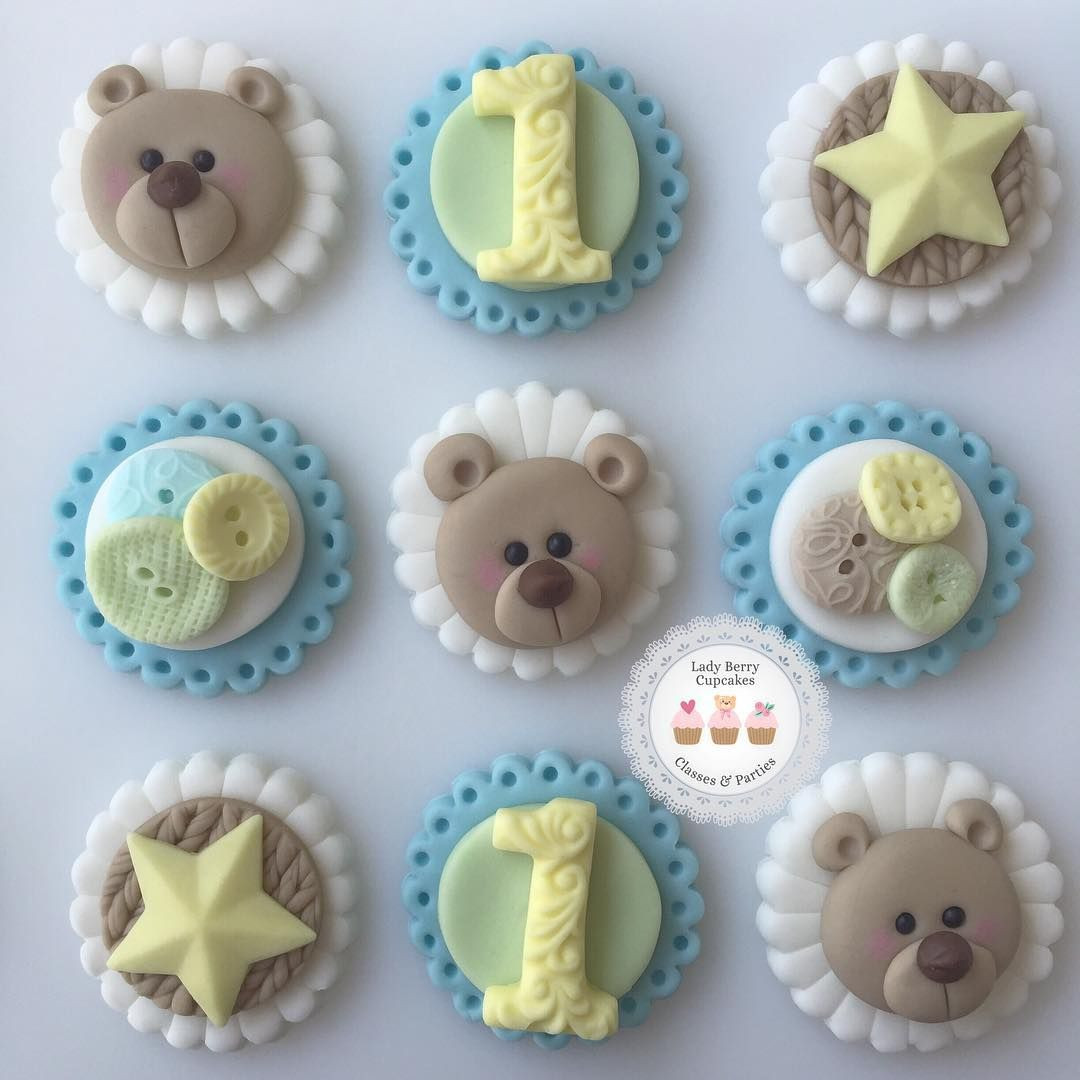 Babys 1st Birthday Cupcake Toppers Cupcakes Pinterest