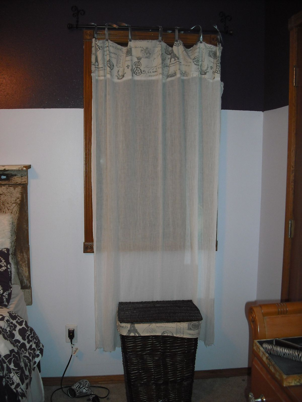 Paris Bedroom, Curtain And Hamper Described On My Board How I Made Them