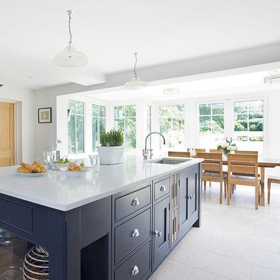 modern kitchen diner with grey island kitchen design ideas photo rh pinterest com