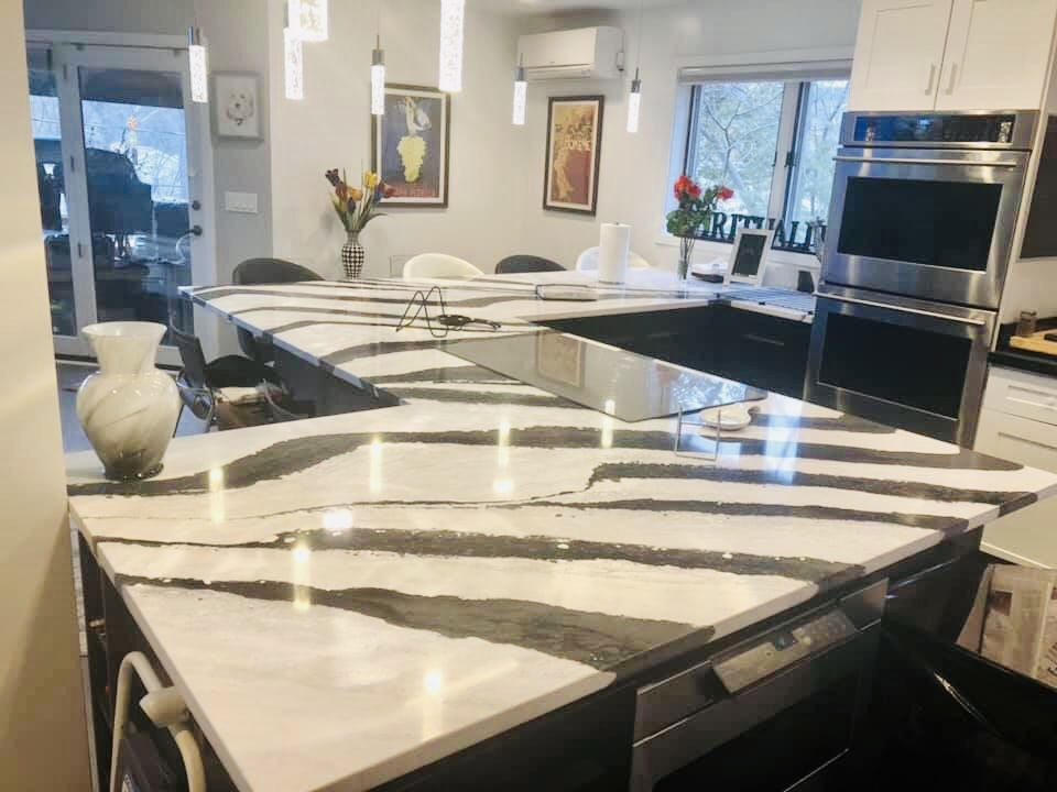 Granite Has A Natural Beauty That Is Timeless And Unique It Is Naturally Resistant In 2020 Engineered Stone Countertops Granite Countertops Kitchen Custom Countertops