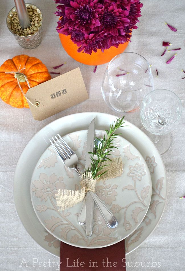 Thanksgiving Place Setting Ideas | Thanksgiving table and Thanksgiving