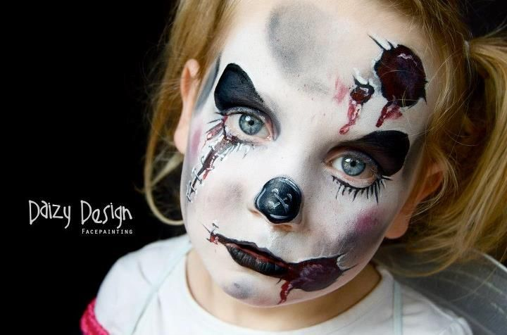 Daizy Design Face Painting - Daizy Design horror 3--Fp GIRLS 2 - halloween design