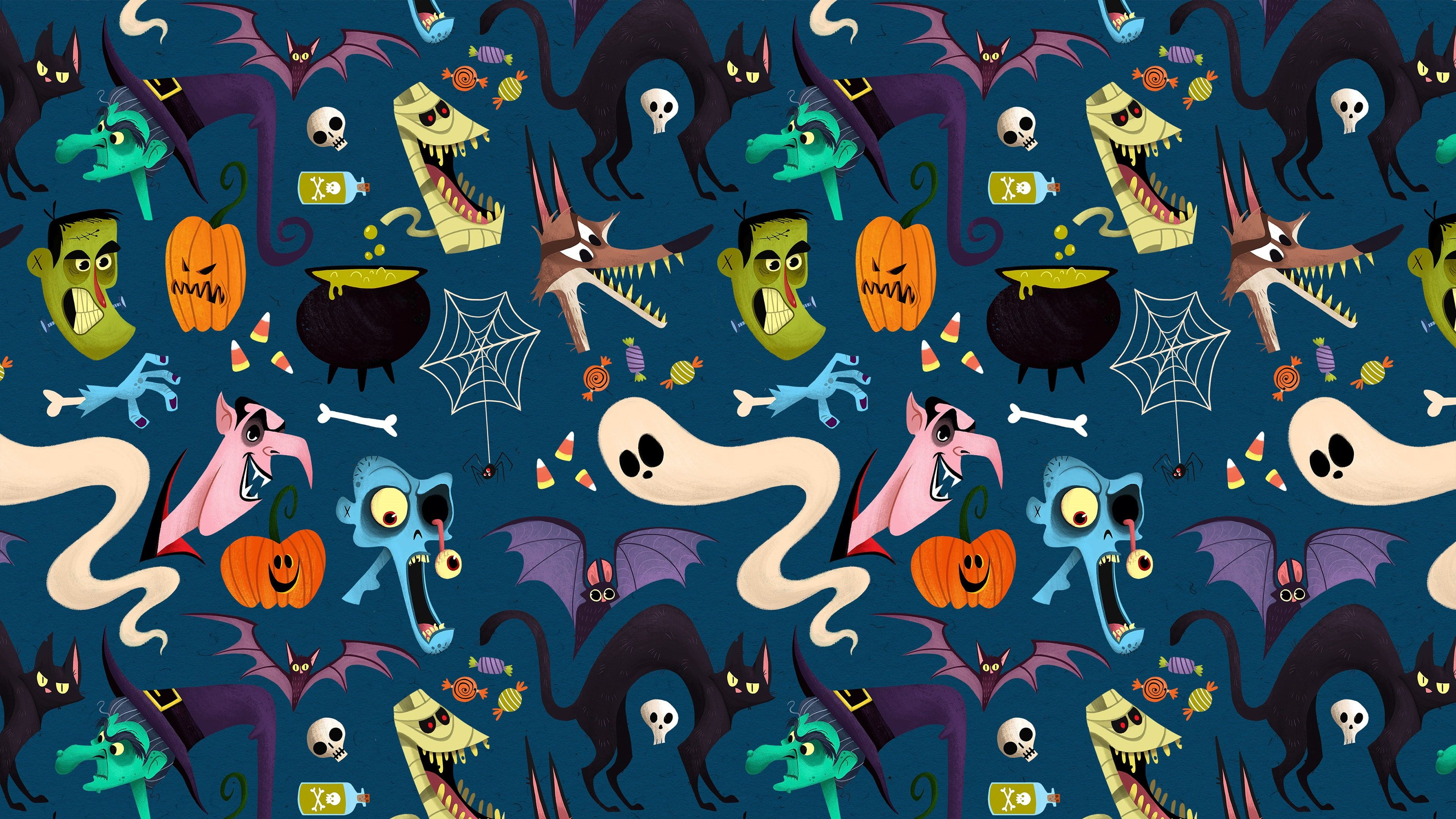HD wallpaper: pattern, halloween, funny, ghost, graphics