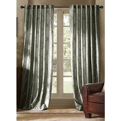 Bombay Garrison 63 Inch Rod Pocket Back Tab Window Curtain Panel
