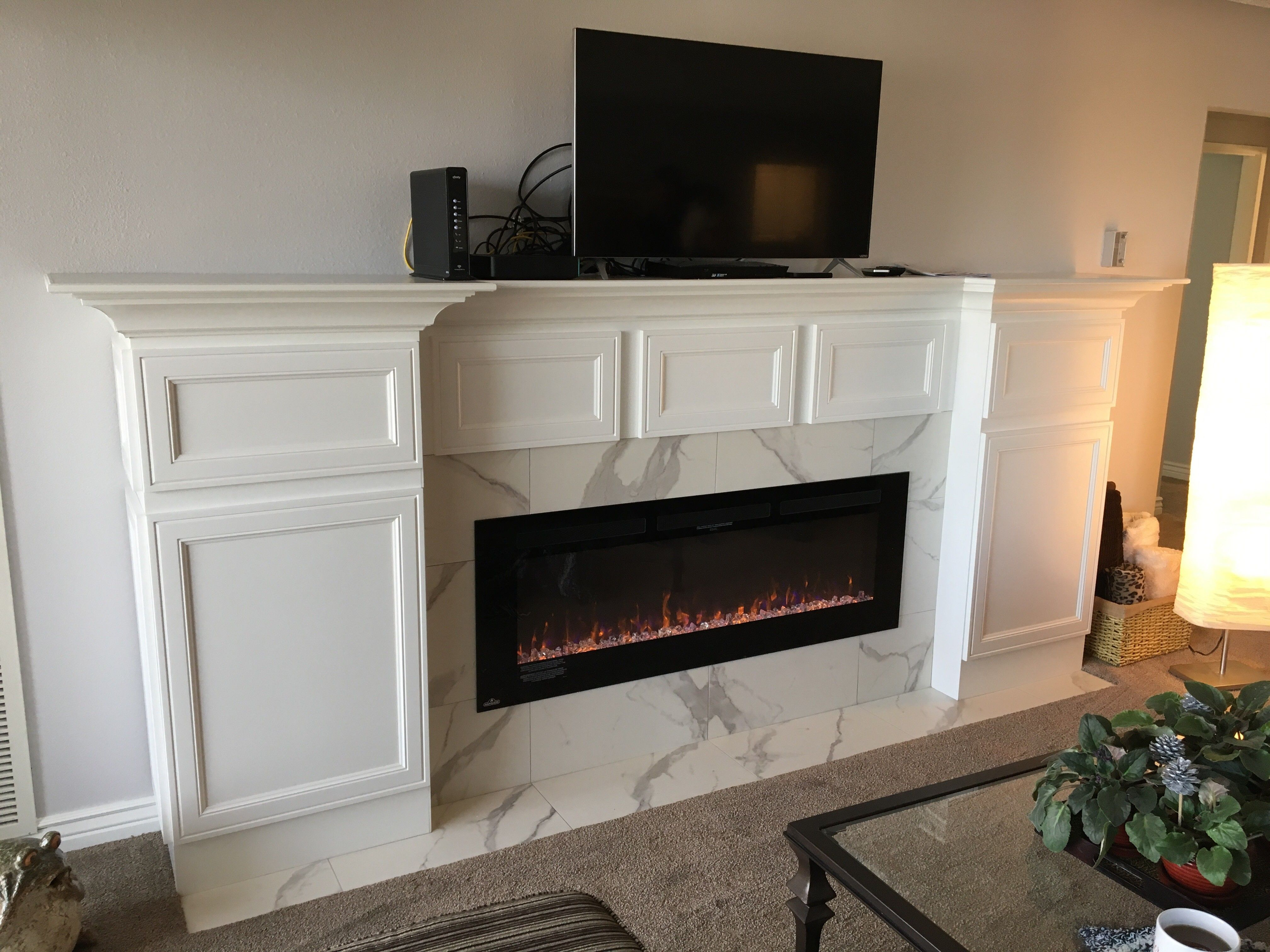 Adding A Unique Modern Yet Traditional Fireplace To This