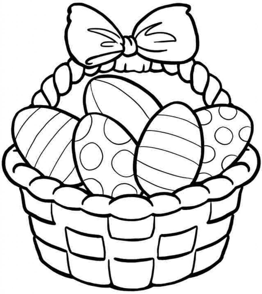 Easter Egg Basket Coloring Pages 4 Jpg 1070 1120 Egg