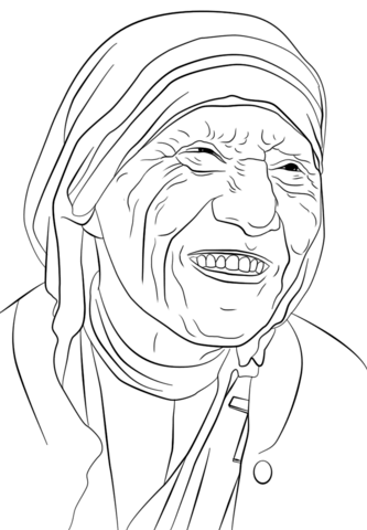 Mother Teresa Coloring Page From Famous People Category