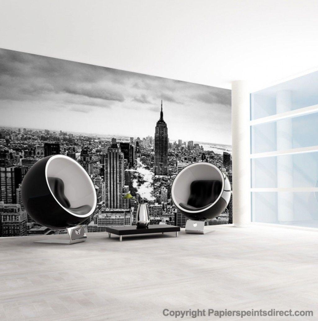 vue de new york 420 cm papier peint panoramique papier. Black Bedroom Furniture Sets. Home Design Ideas