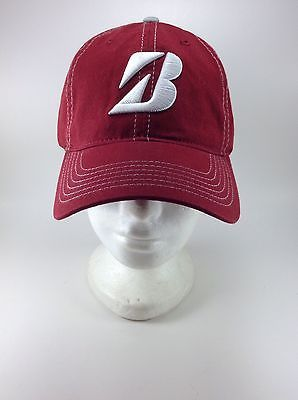 Bridgestone Golf Strapback Hat Relaxed Fit Burgundy PGA Hats For Sale 38b9f528601
