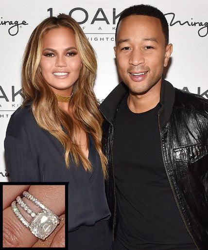 The Most Breathtaking Celebrity Engagement Rings Ever Chrissy Teigen And John Legend From Instyle