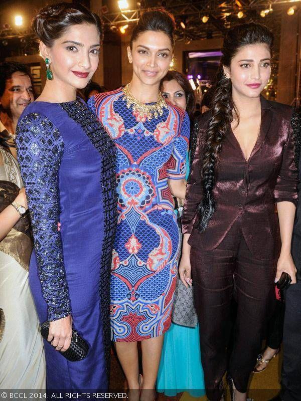 Glam divas, Sonam Kapoor, Deepika Padukone and Shruti Haasan