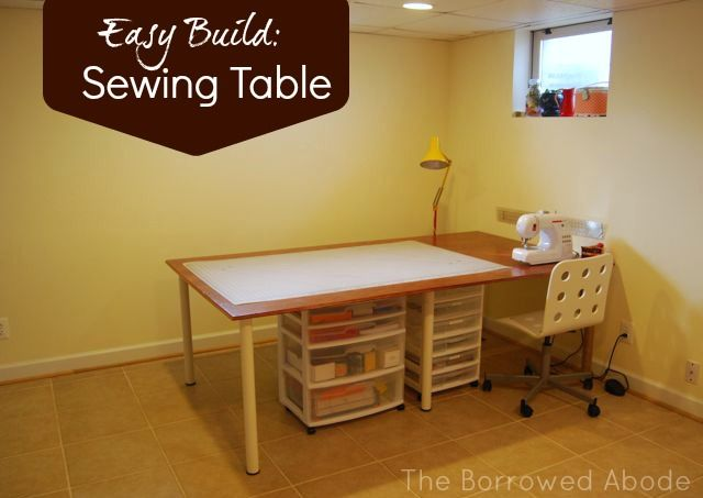 cheap easy build a large or tiny sewing crafting table diy rh pinterest com