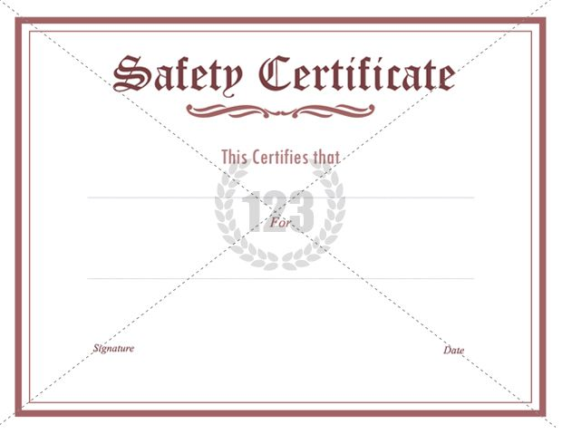 Prestigious safety certificate pdf download 123certificate prestigious safety certificate pdf download 123certificate templates certificate template yadclub Choice Image