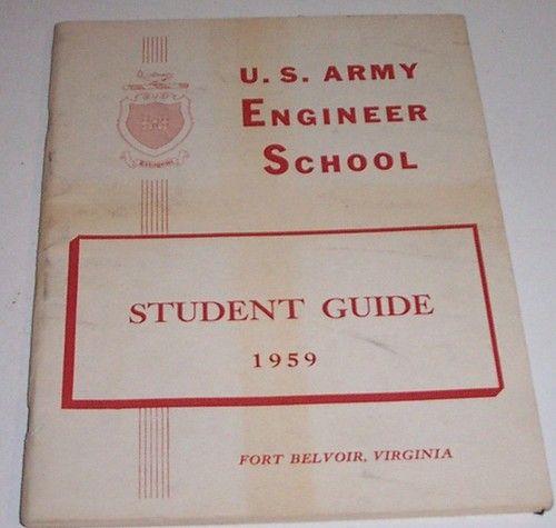 US Army Engineer School Student Guide Vintage 1959 Fort Belvoir VA Handbook Map | $14.95 eBay