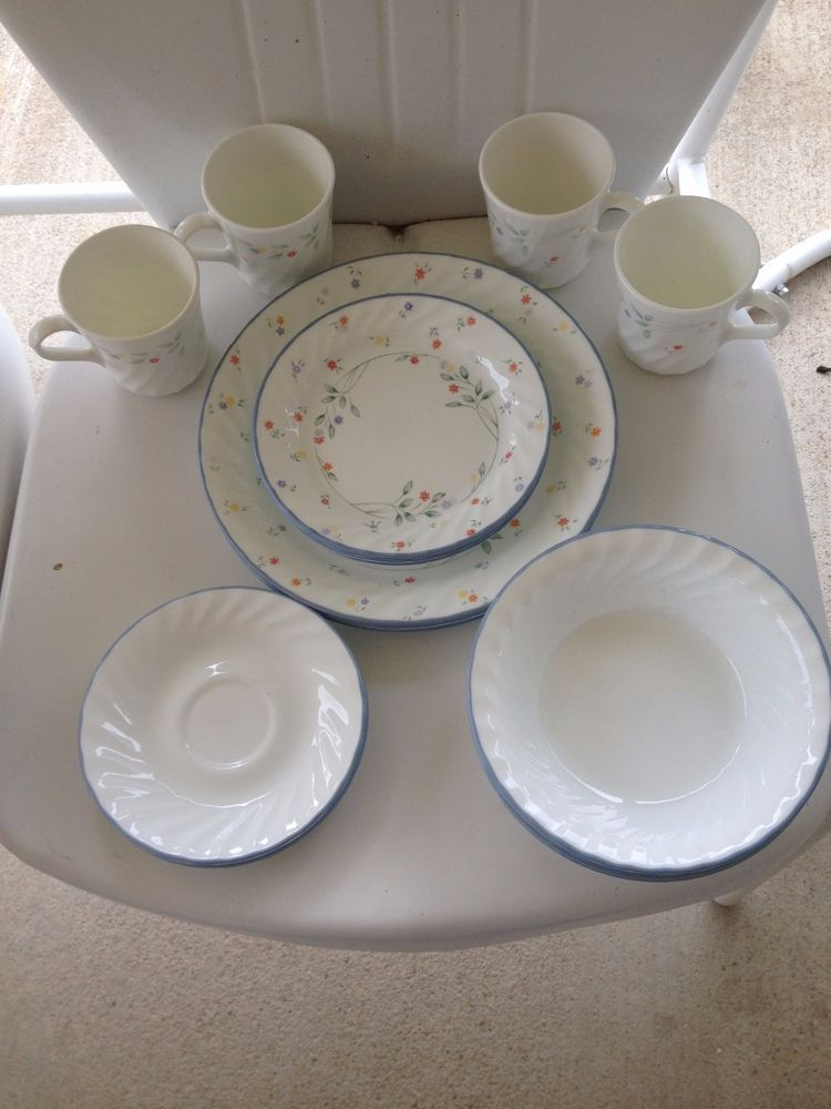 details about mint 20 piece setting corelle english meadow swirl rh pinterest com
