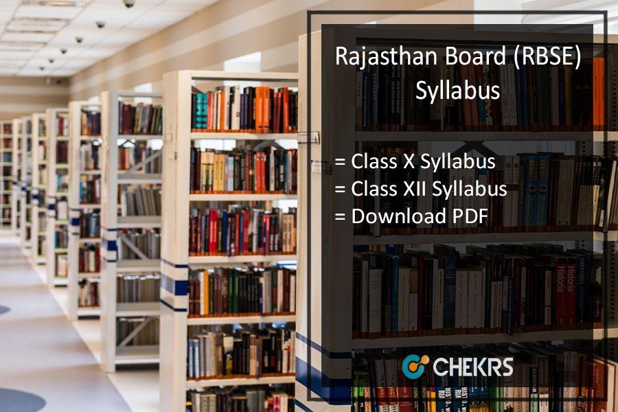 Rajasthan Board 10th 12th New Syllabus 2018 19 Rajasthanboard