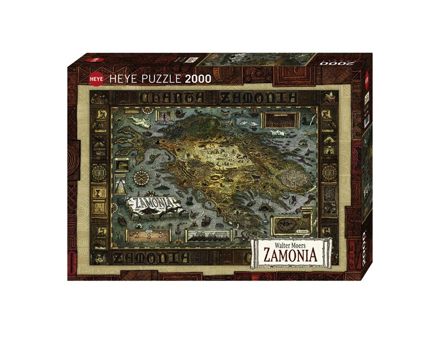 Enjoy Learning Us Map Puzzle%0A Map of Zamonia Puzzle  COVER