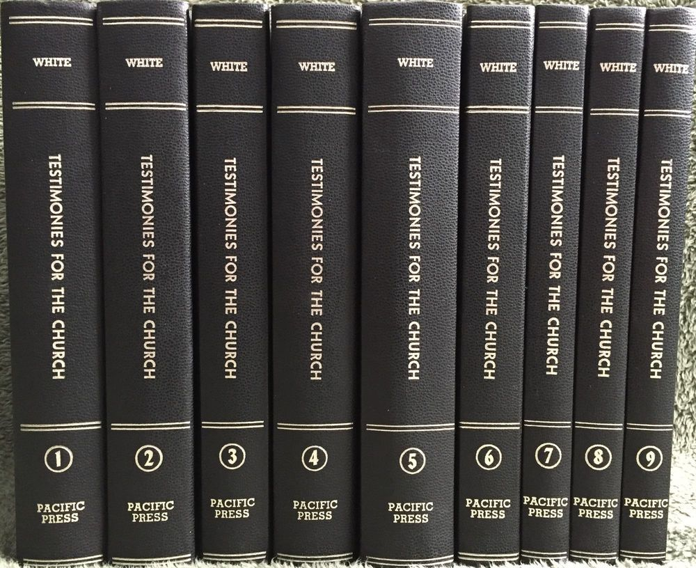 Testimonies for the church ellen g white seventh day adventist sda 9 volume set