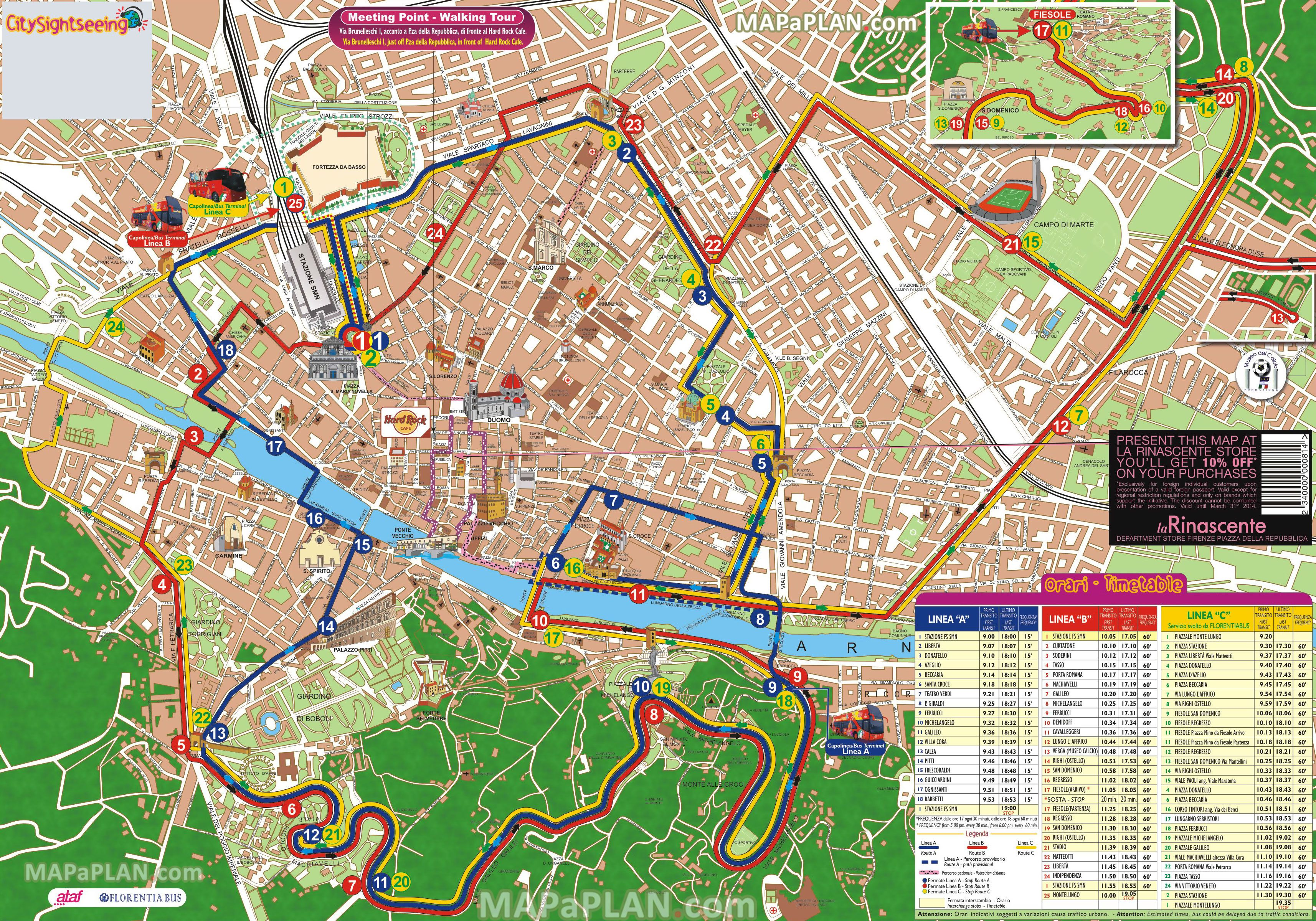 Map Uk Attractions%0A city sightseeing hop on hop off double decker open top coach bus tour  basilica di santa