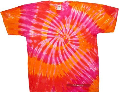 Tie Dyed Shop Spiral Tie Dye T Shirt - Orange and PInk Colors - Shortsleeve - Multicolored Tie Dyed Shop http://www.amazon.com/dp/B00HS2B2ZA/ref=cm_sw_r_pi_dp_6L4bub1MZT6RE