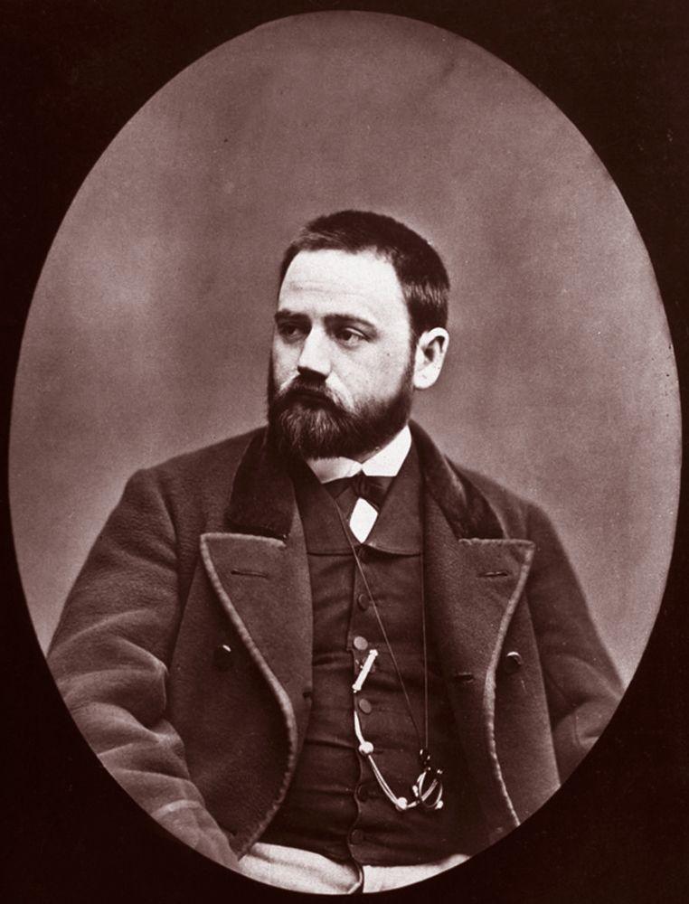 Ritratto di Émile Zola, 1875, fotografia, Étienne Carjat.
