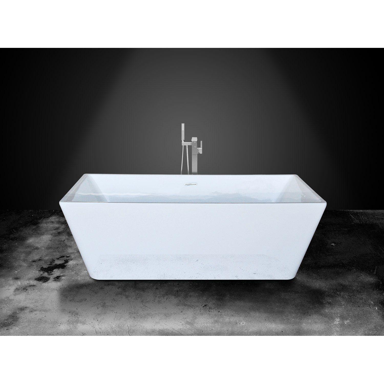 Tablier de baignoire 80cm en acrylique blanc