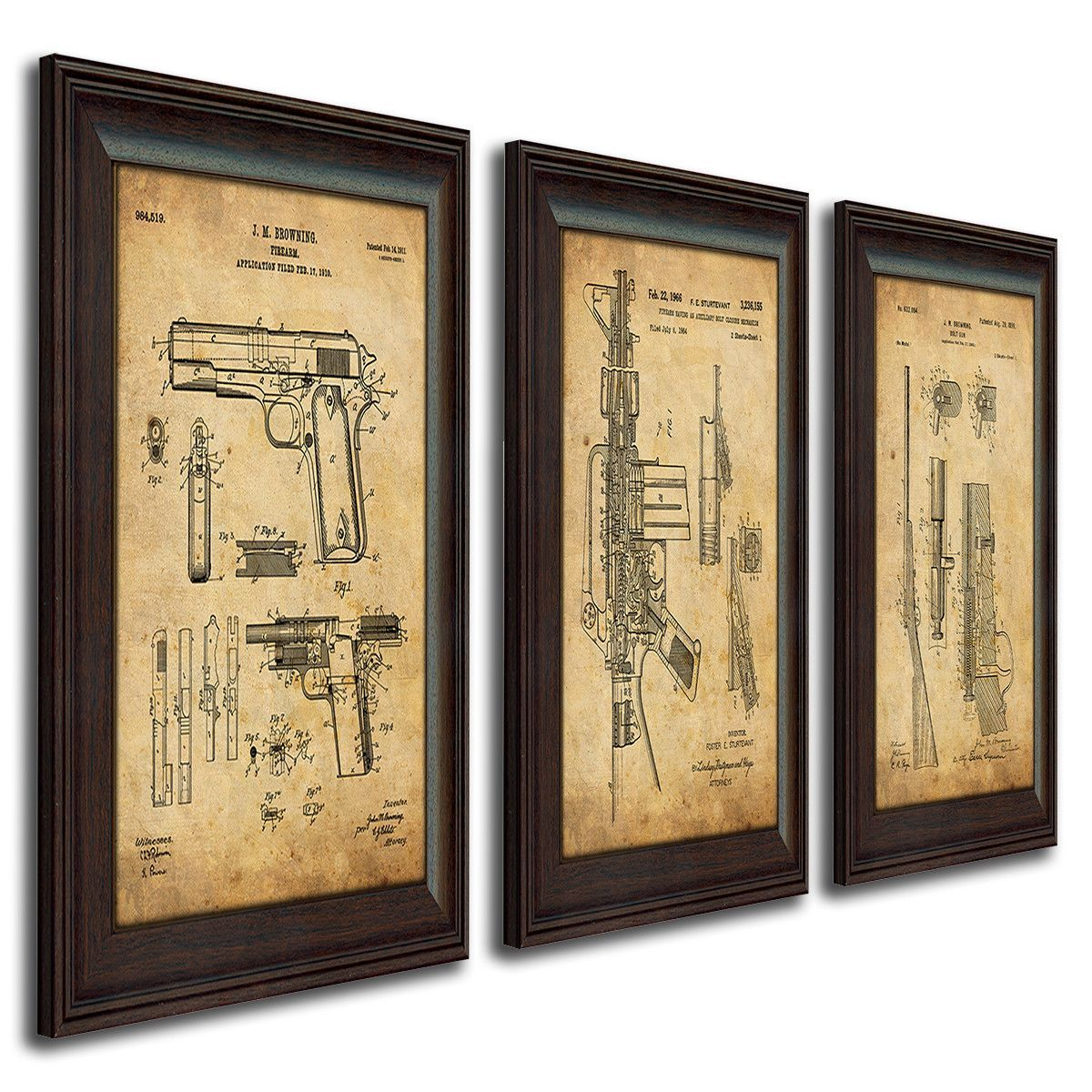 Firearm Guns - Patent Art from Personal-Prints | Patent Art | Pinterest