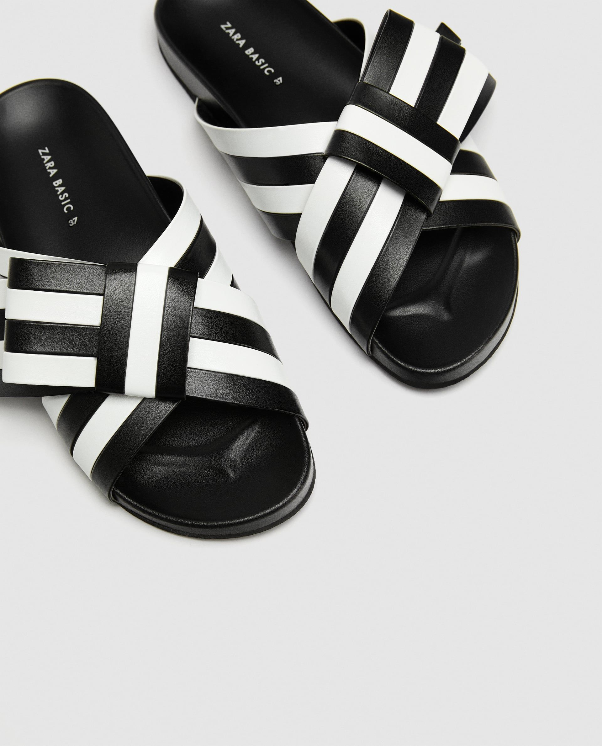 7ce7d82febff ... Sandals to Buy This Month. Image 4 of STRIPED BOW SLIDES from Zara