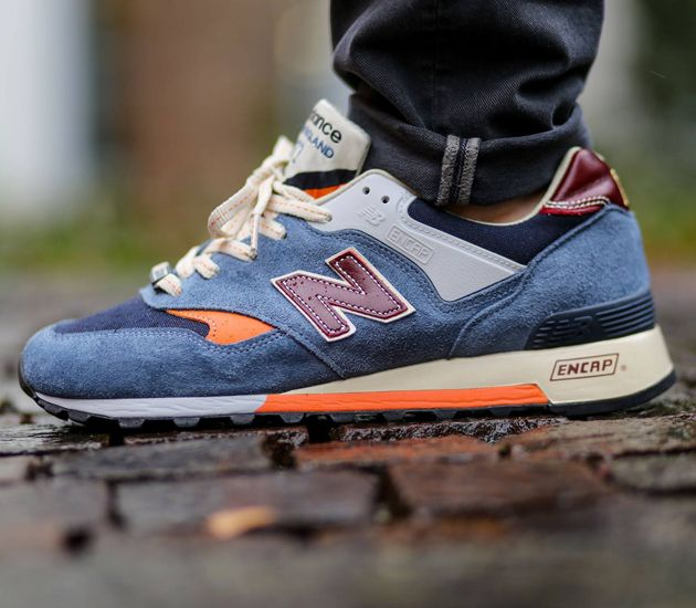Find this Pin and more on Mens Fashion. New Balance 577 – Blue / Orange ^