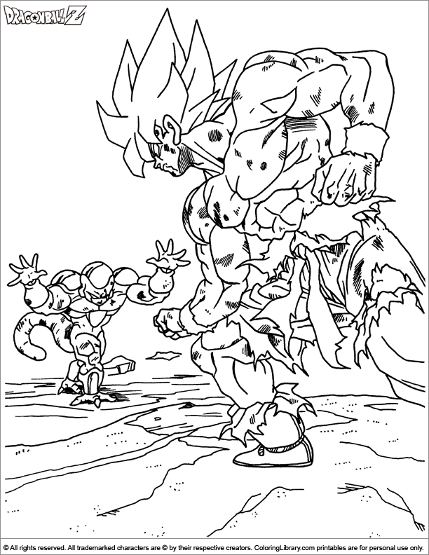 Dragon Ball Z Coloring Picture Coloring Books Dragon Ball Z Superhero Coloring