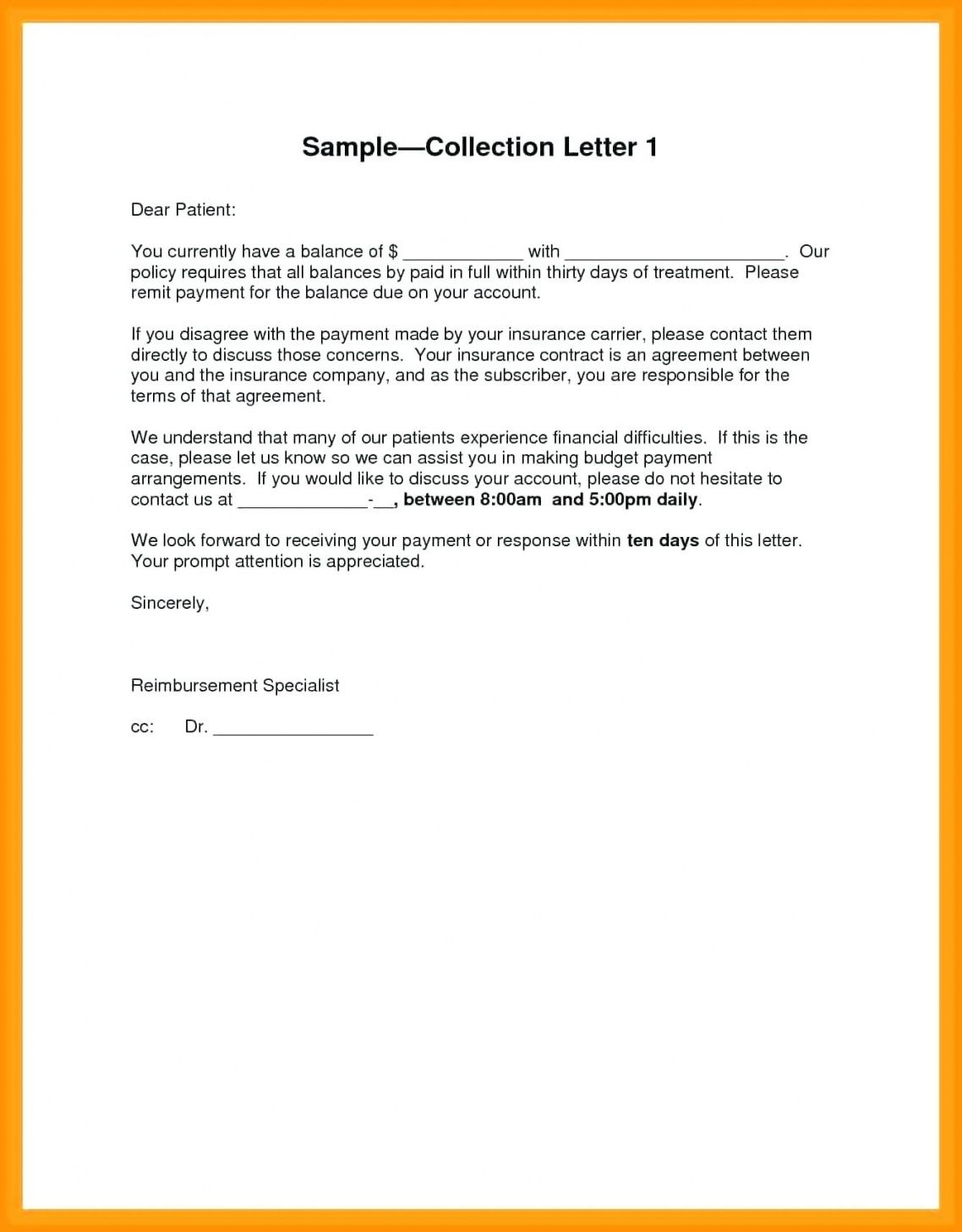 Browse Our Example Of Debt Dispute Letter Template For Free In