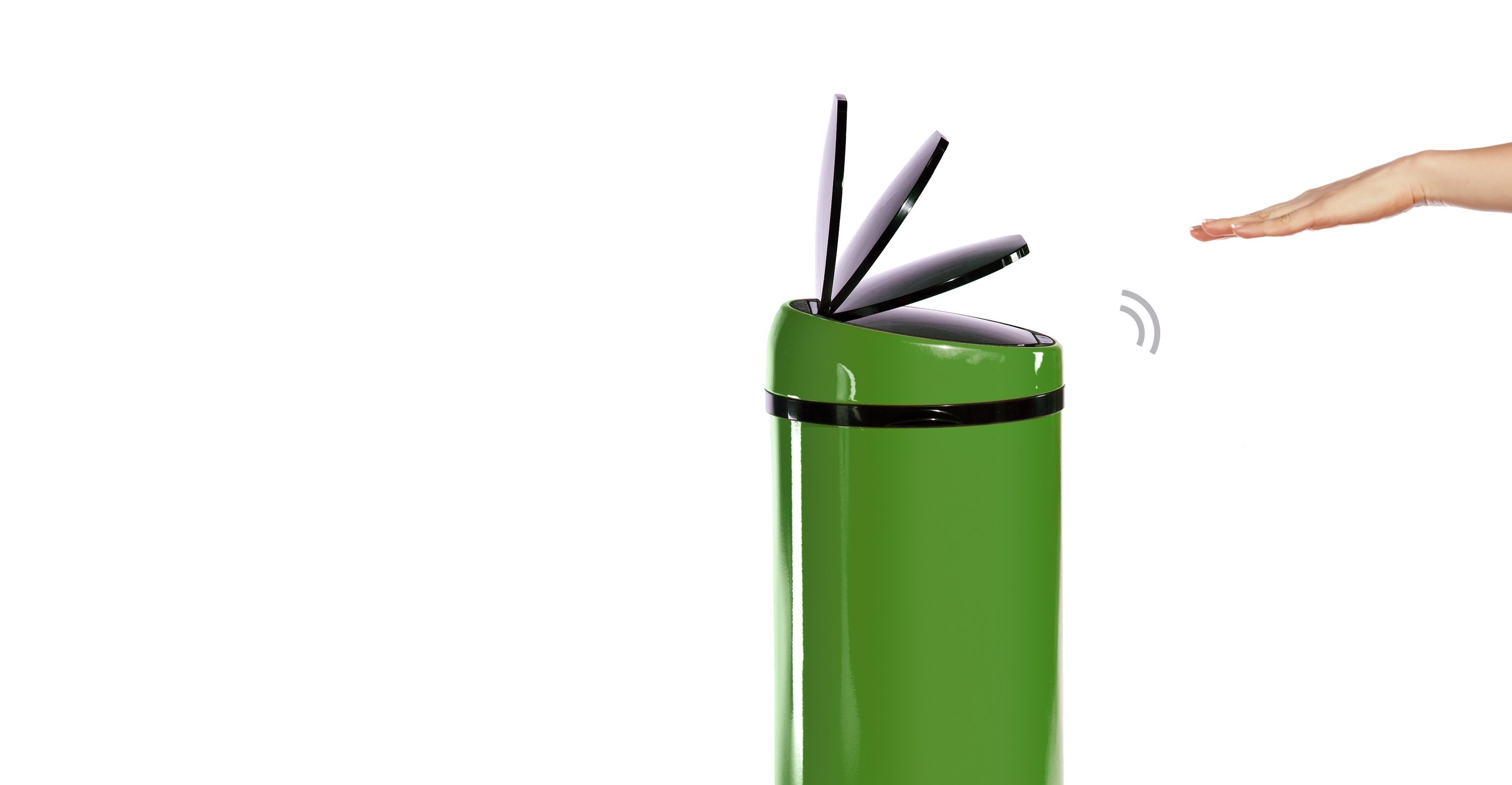 Sense Touch Free Bin 50l Green Poubelles Automatiques Poubelle