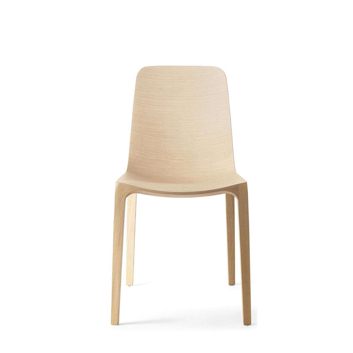 Oak Freda Dining Chair Available In Bleached Oak White Lacquer