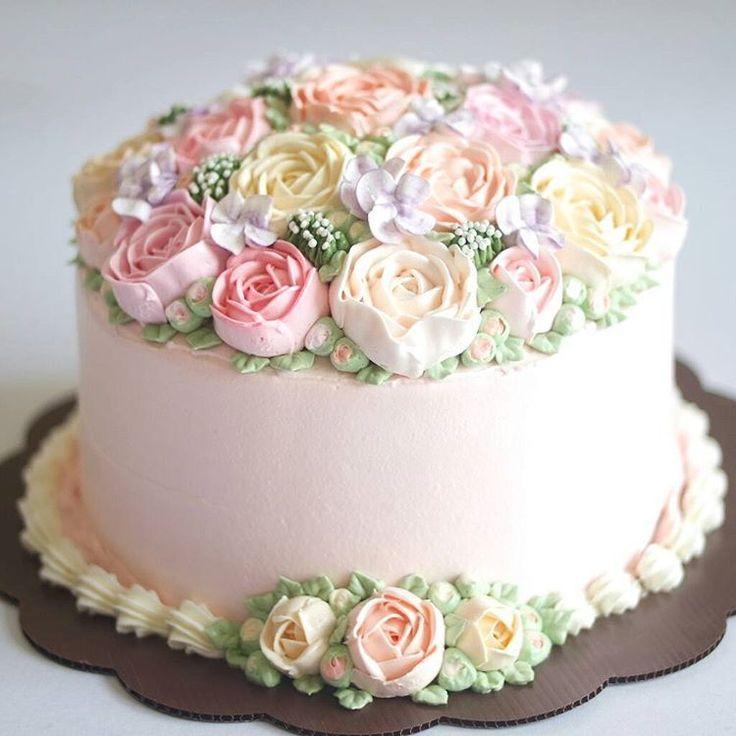 Brimming With Roses Cake Recipe