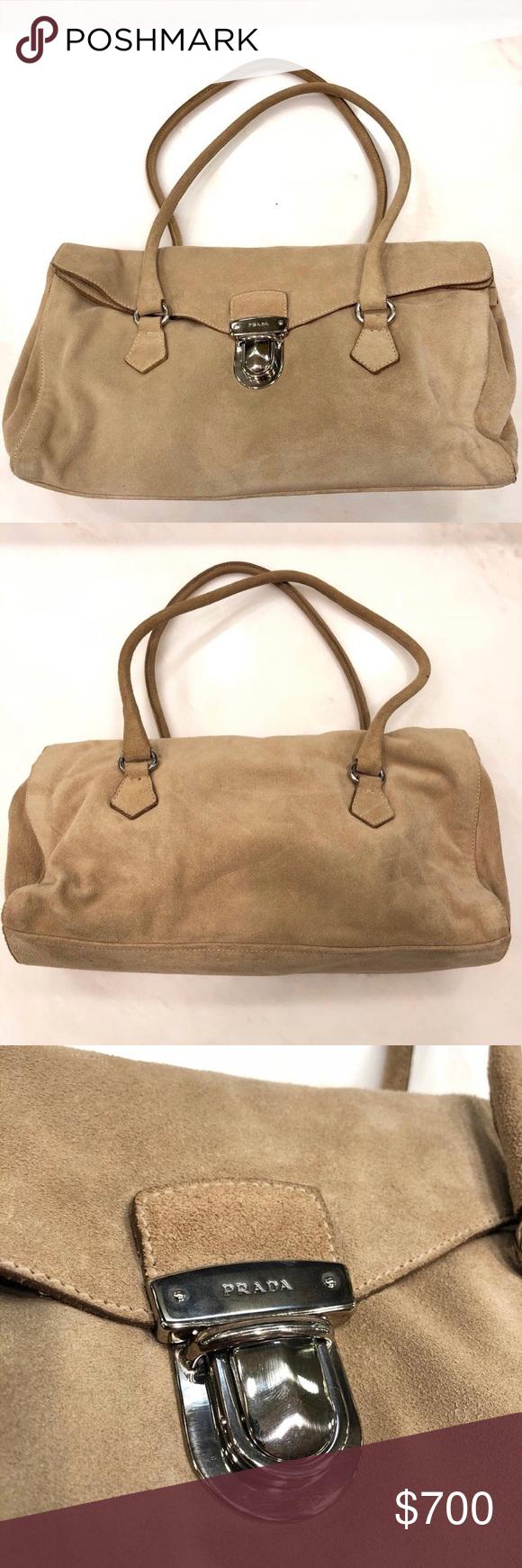 Prada Suede Purse High end suede Prada bag Size  Medium Perfect condition  (never used 7ec522ad60