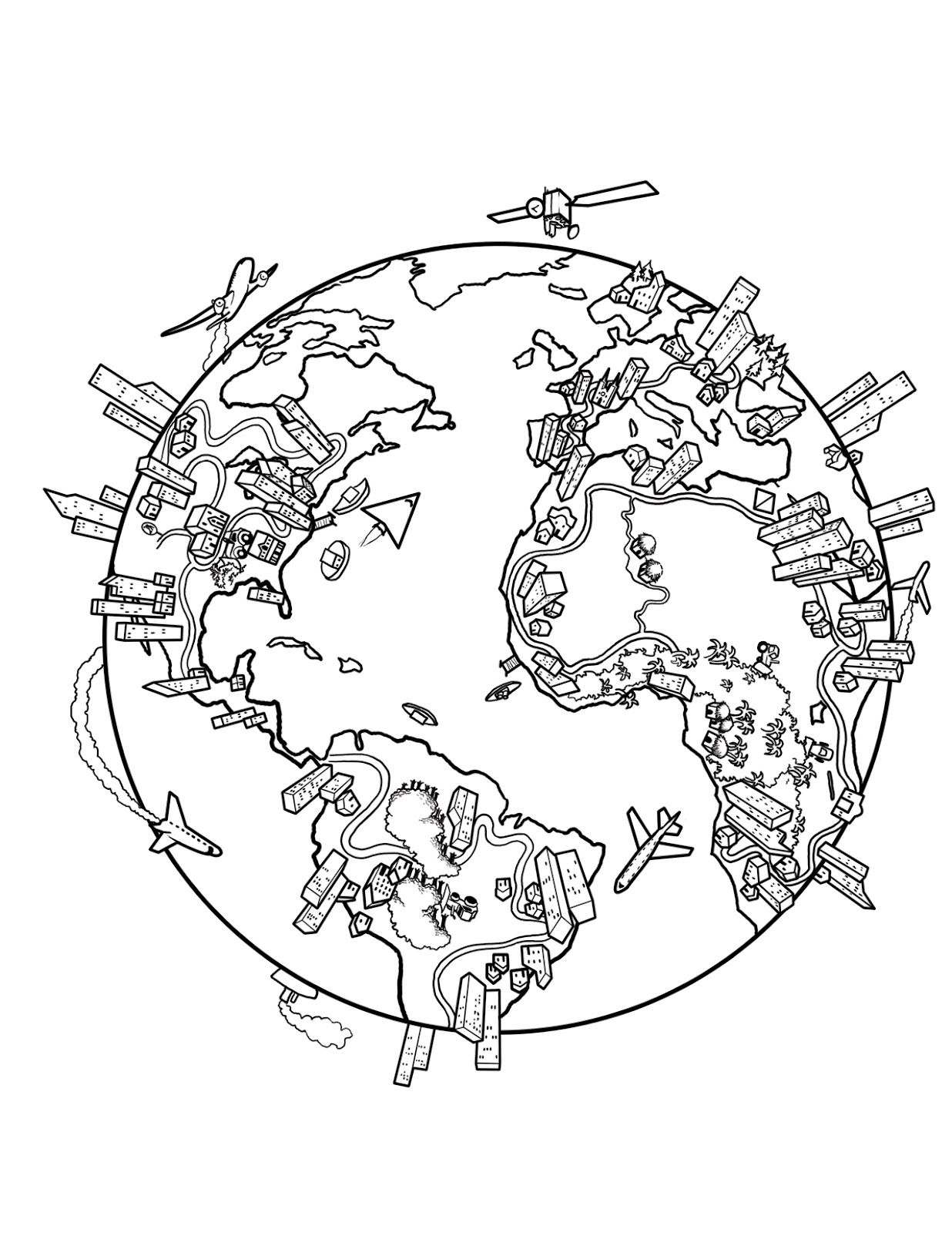 The World Coloring Page