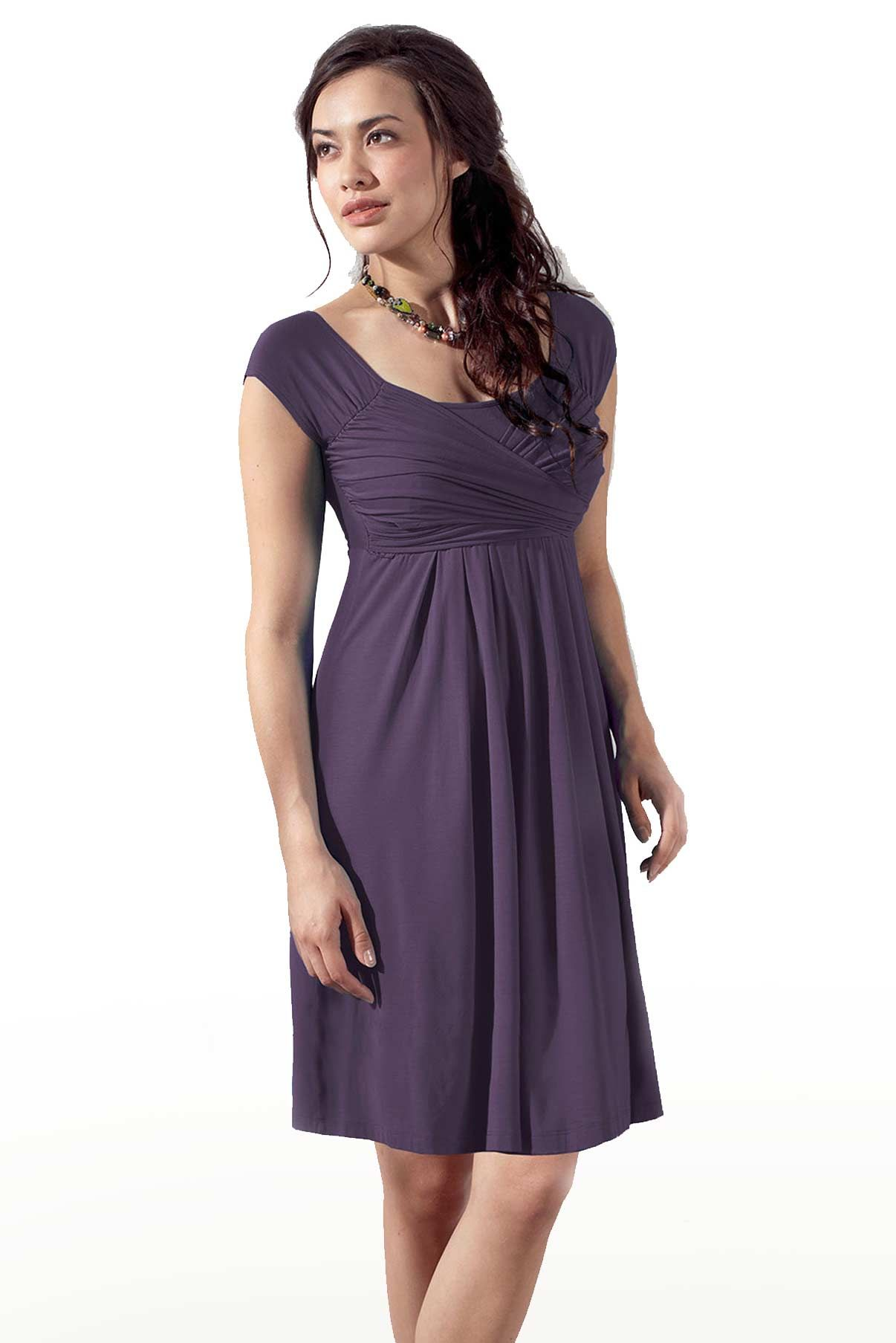 Mothers En Vogue Lola Mae Nursing Dress, Aubergine - Izzy\'s Mum ...
