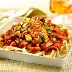 Chile Ancho-Braised Chicken & Pasta