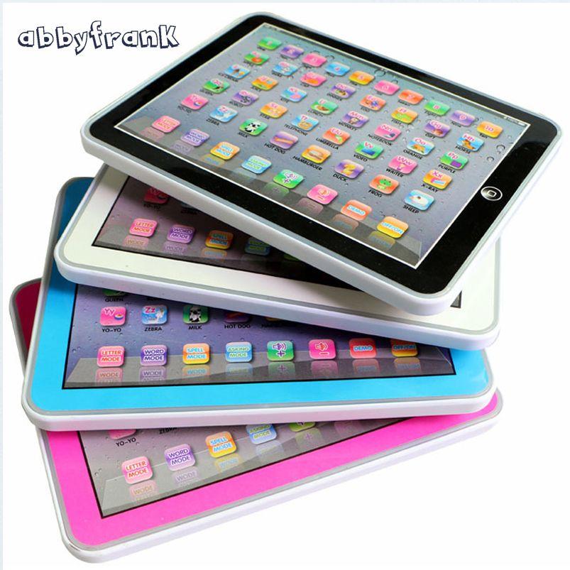 Abbyfrank Children English Learning Machine Tablet Toys Pad Juegos Divertidos Para Niñas Muñecas De Bebés Juguetes Para Niñas