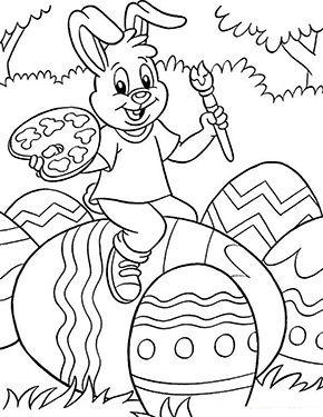 kostenlose ausmalbilder ostern | osterhase bemalt ein ei zum ausmalen. ausmalbilder | malvorla