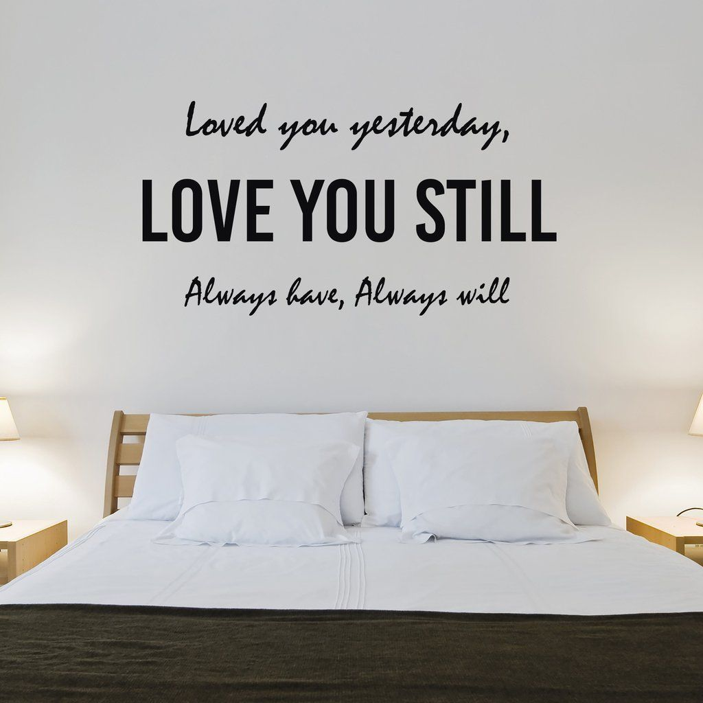 Decorate any bedroom with this adorable love