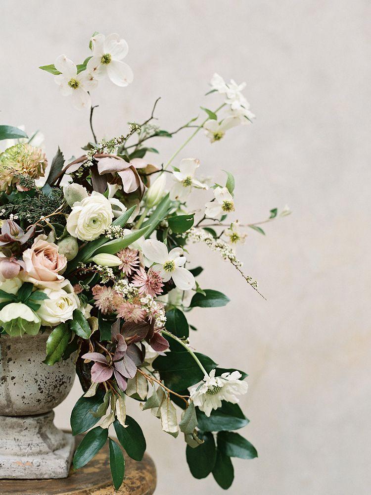 Gorgeous wild unstructured flower arrangement Elegant and
