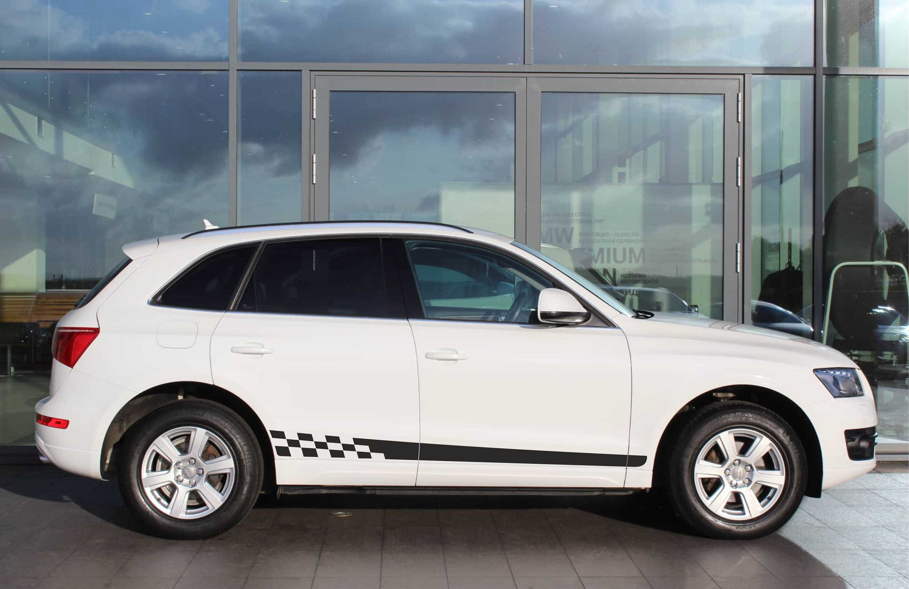 For Audi Q5 Side Stripes Matt Or Glossy Decals Etsy Car Stripes Audi Audi Q5