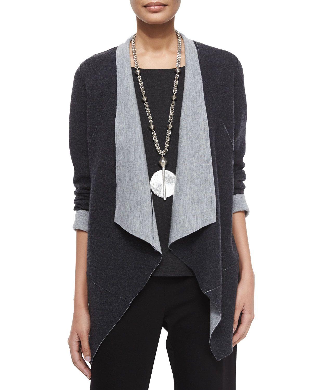 Eileen Fisher Merino Double Knit Jacket Long Sleeve Jersey Cozy Tee Straight Leg Ponte Pants Matching Items Knit Jacket Petite Sweaters Eileen Fisher [ 1500 x 1200 Pixel ]